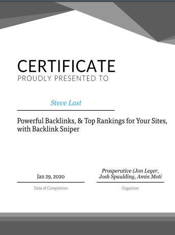 Training certificate in Internet Marketing