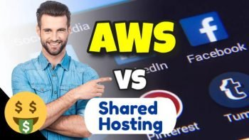 AWS vs shared hosting featured image.