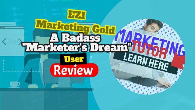 Image text: EZI Marketing Gold Badass Bundle review.